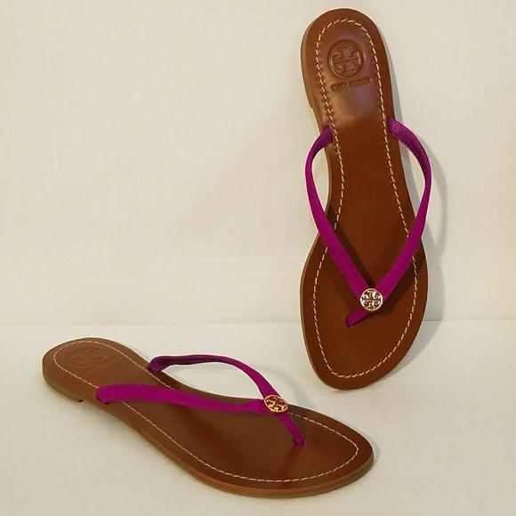 76440df2cbdd3d Tory Burch Violet Glow Terra Thong Sandals. M 5b3424866197452e40e5df5f
